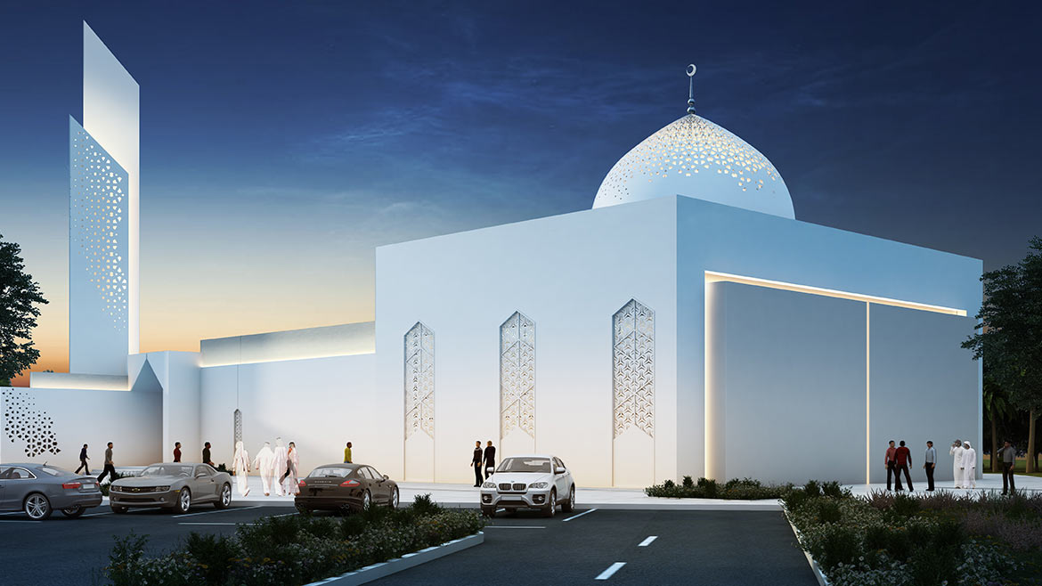 Mosque At  Sheikh zayed road Dubai